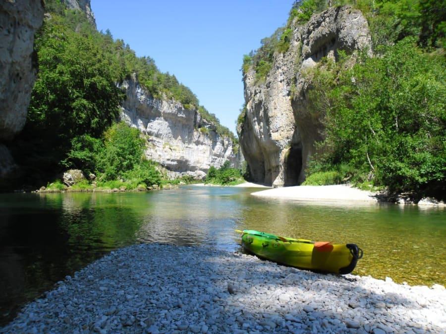 Combo: saut élastique de 107m + canoë dans les Gorges du Tarn