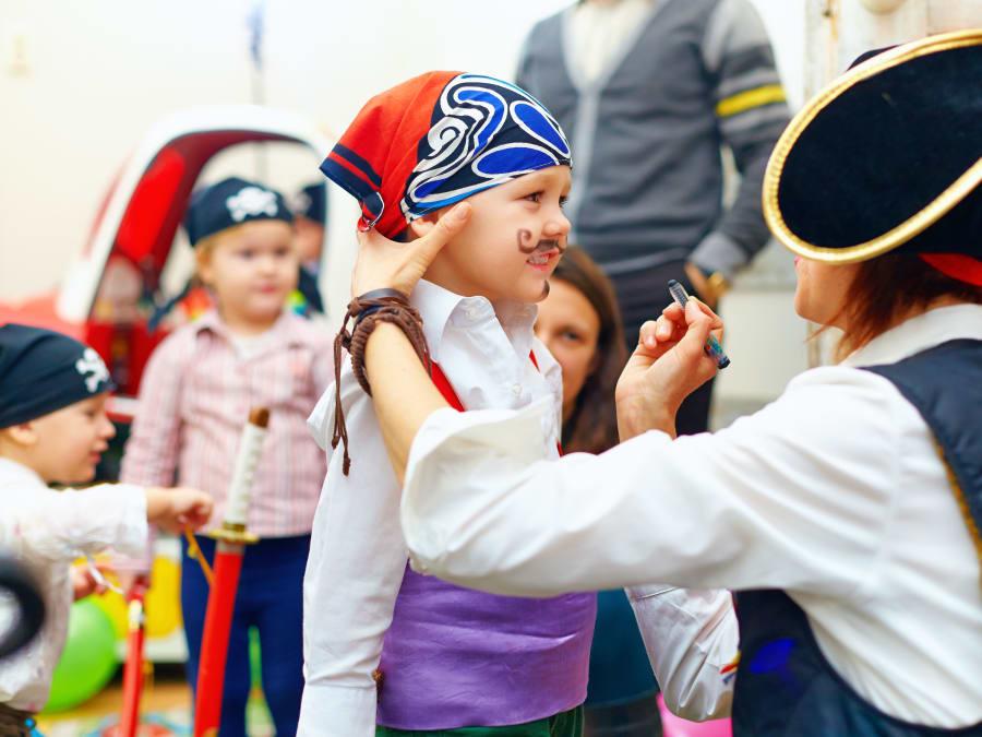 Anniversaire Pirates pour les 3-6 ans à domicile