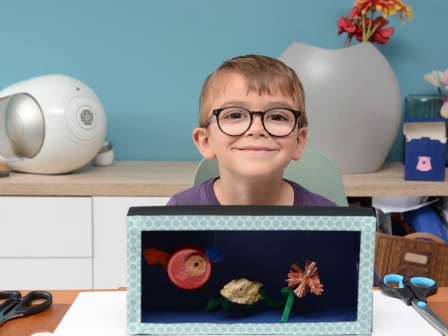 Anniversaire Création d'un Aquarium Ecolo 5-8 ans à domicile