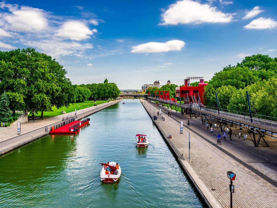 Jeu de piste privatisé au Canal de l'Ourcq (75019)