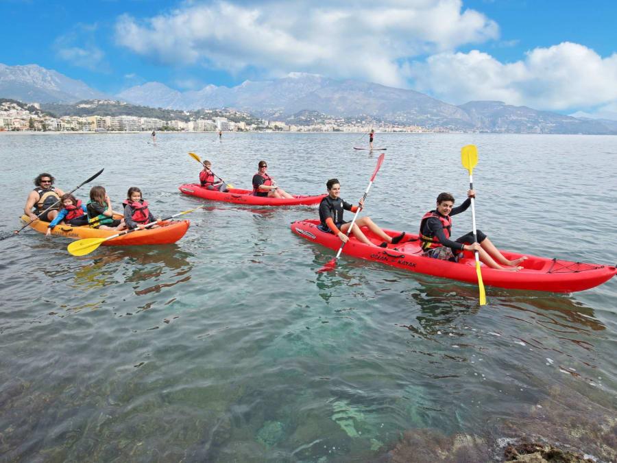 Kayak de mer aux îles de Lérins (Cannes-06)