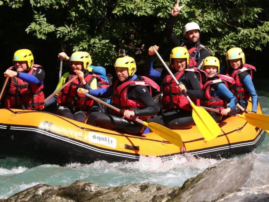 Descente enfant / famille en Rafting sur l'Isère (73)
