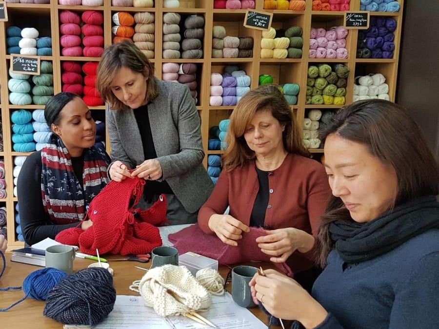Atelier découverte du tricot et du crochet à Paris 16ème