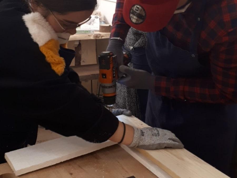 Atelier Bricolage Création d'un banc chez Make It Leroy Merlin