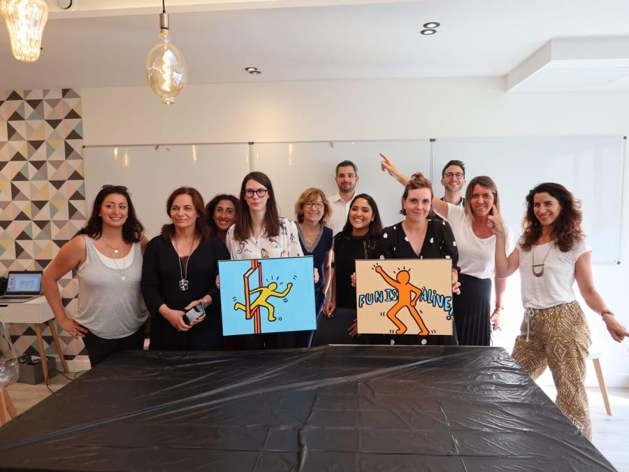 Team Building Pop Art: une oeuvre à l'image de votre entreprise