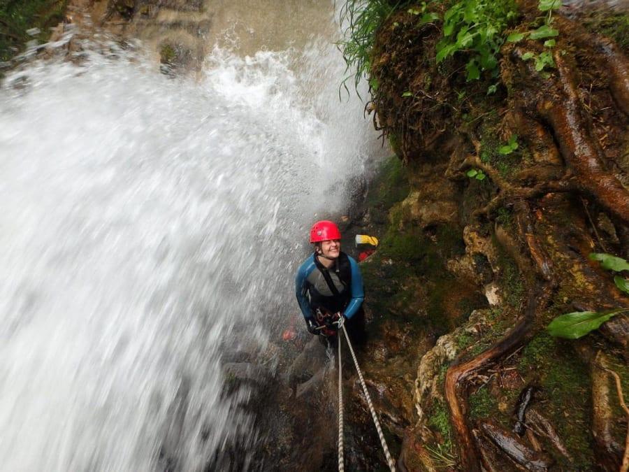 Canyoning dans le Canyon du Léoncel proche Valence