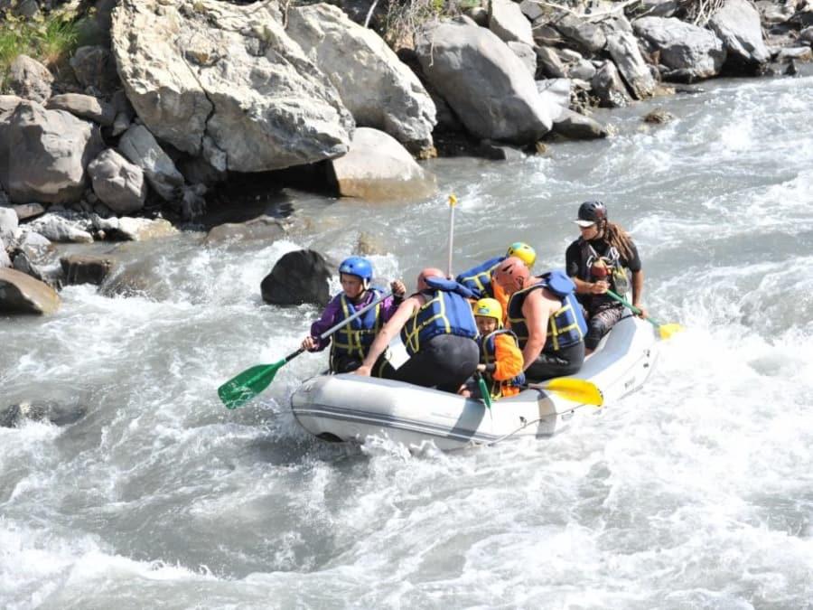 Descente en rafting de l'Ubaye dans les Alpes de Haute Provence
