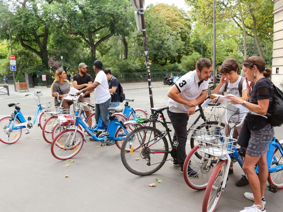 Team Building Urban Game à Vélo dans Paris