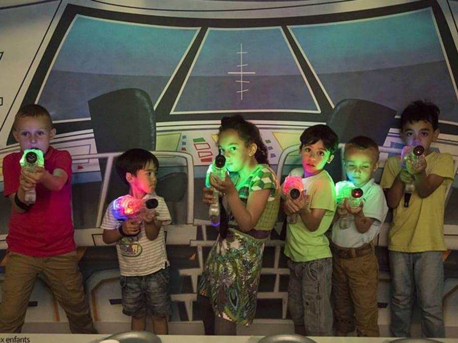 Anniversaire en soirée Laser Game au Gulli Parc de Toulouse