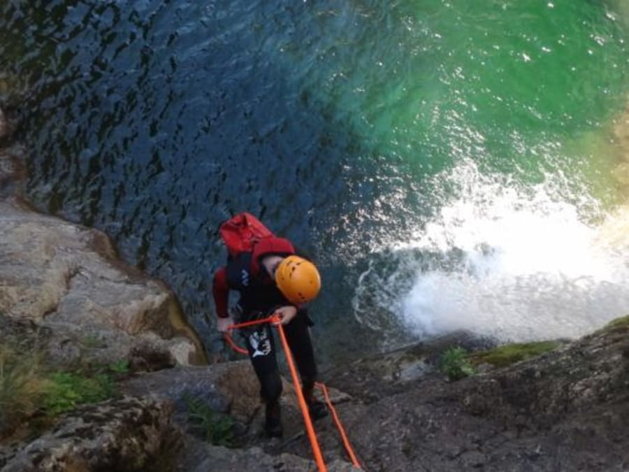 Journée canyoning au canyon de la Borne, dans les Cévènnes