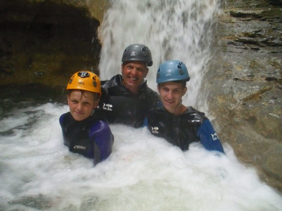 Canyoning pour enfants au Canyon de Seythenex (74)
