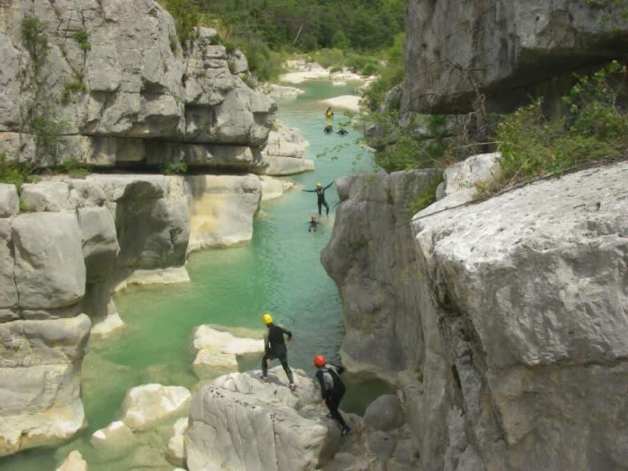 Canyoning aquatique dans les Gorges du Jabron