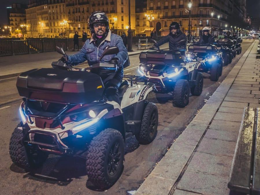 Balade nocturne en Quad à Paris - Circuit Tour Eiffel