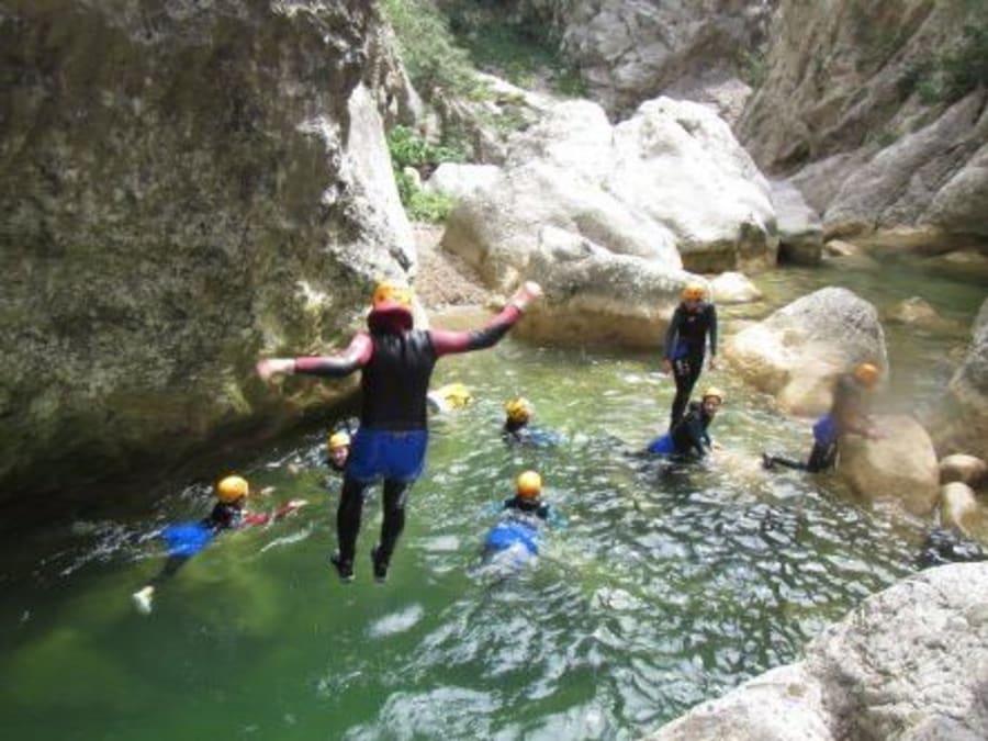 Canyoning à Molitg dans les Pyrénées Orientales (66)