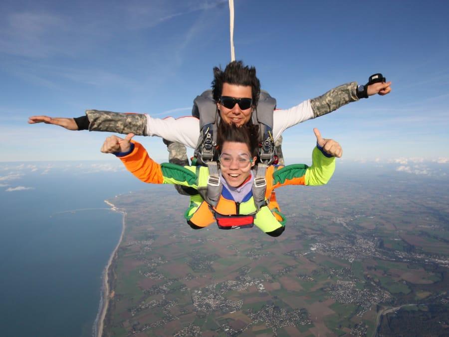 parachutisme deauville