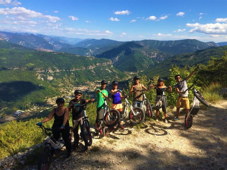 Parcours découverte en Deval'Bike dans le parc du Verdon