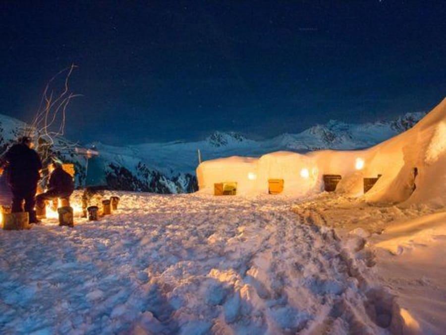 Nuit en igloo à La Plagne (73)