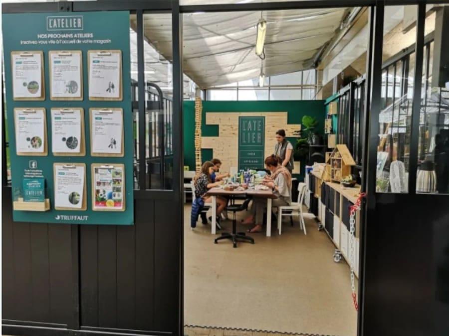 Atelier enfant mini terrarium d'automne Truffaut Ville-du-Bois