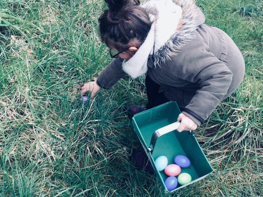 Chasse aux œufs pour Pâques à la cueillette de Compans !