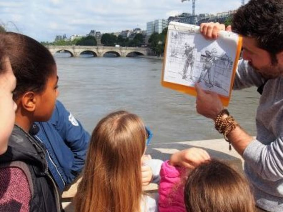 Anniversaire Médiéval 9-14 ans sur l'Ile de la Cité à Paris 4è