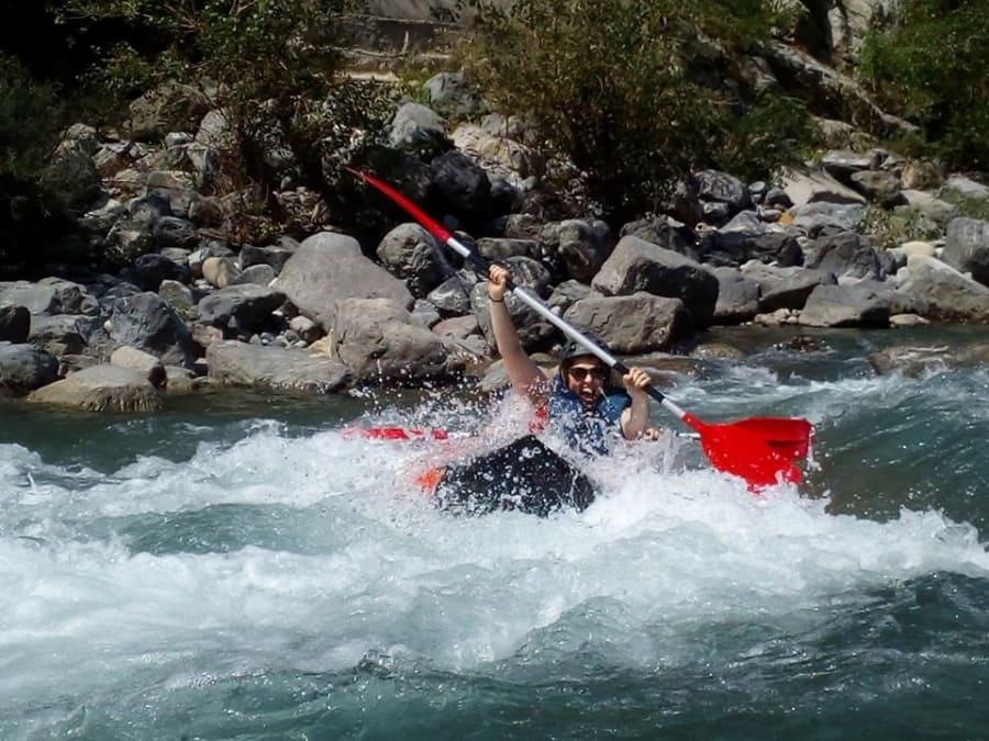 Kayak-Raft découverte sur la Roya près de Monaco