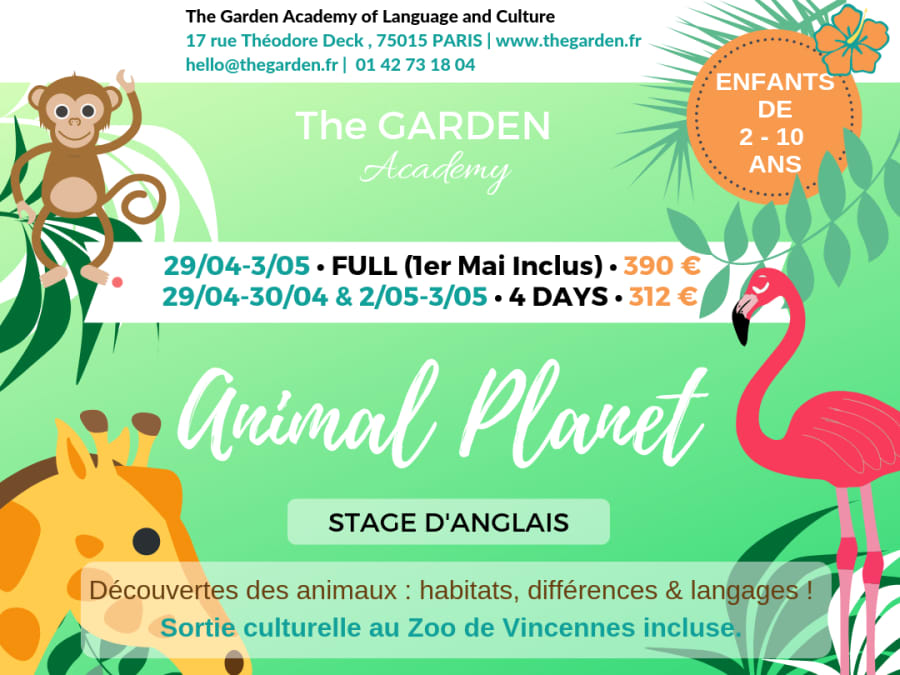 Stage vacances Multi-activités Anglais à Paris 15ème