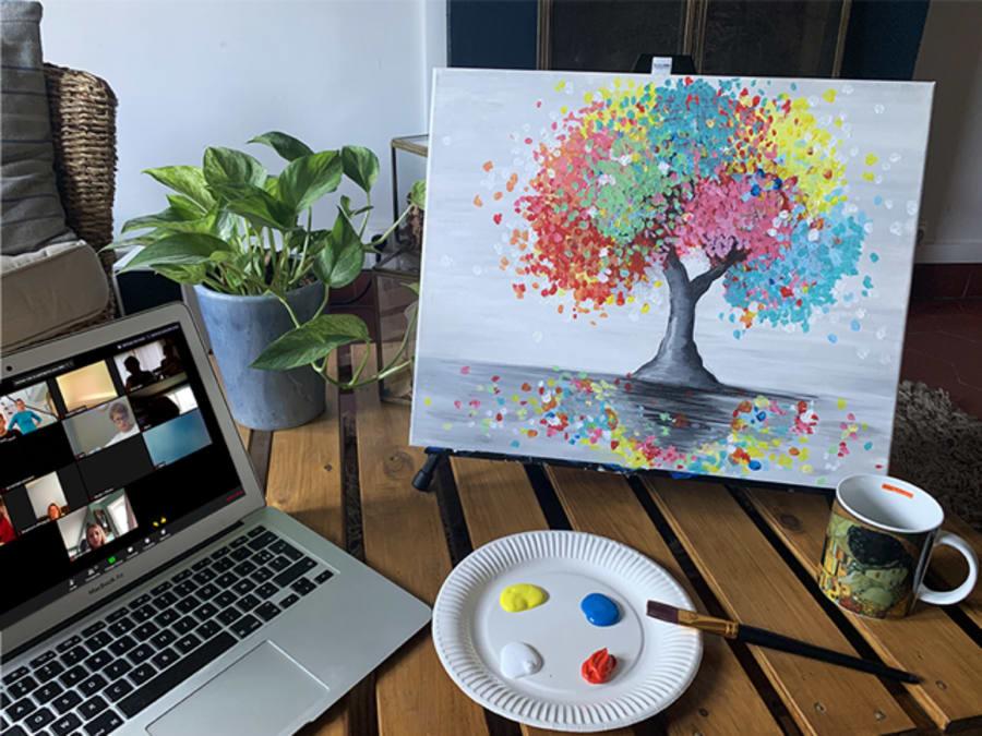 Anniversaire Atelier Peinture en Visioconférence