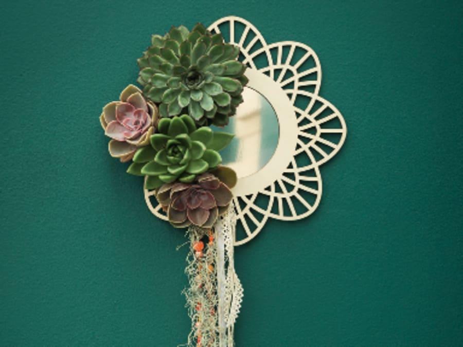 Atelier créatif DIY Je crée mon miroir déco de succulentes