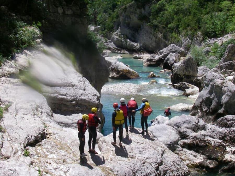 """Canyoning aquatique """"rando aqua"""" dans les Gorges du Verdon"""