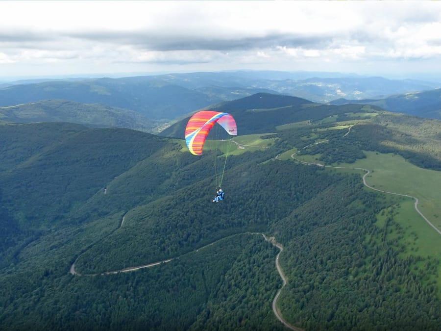 Initiation au Vol en Parapente au-dessus du Parc des Vosges