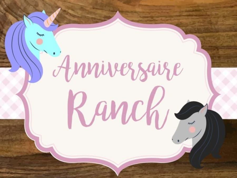 Anniversaire Ranch 3-12 ans à domicile