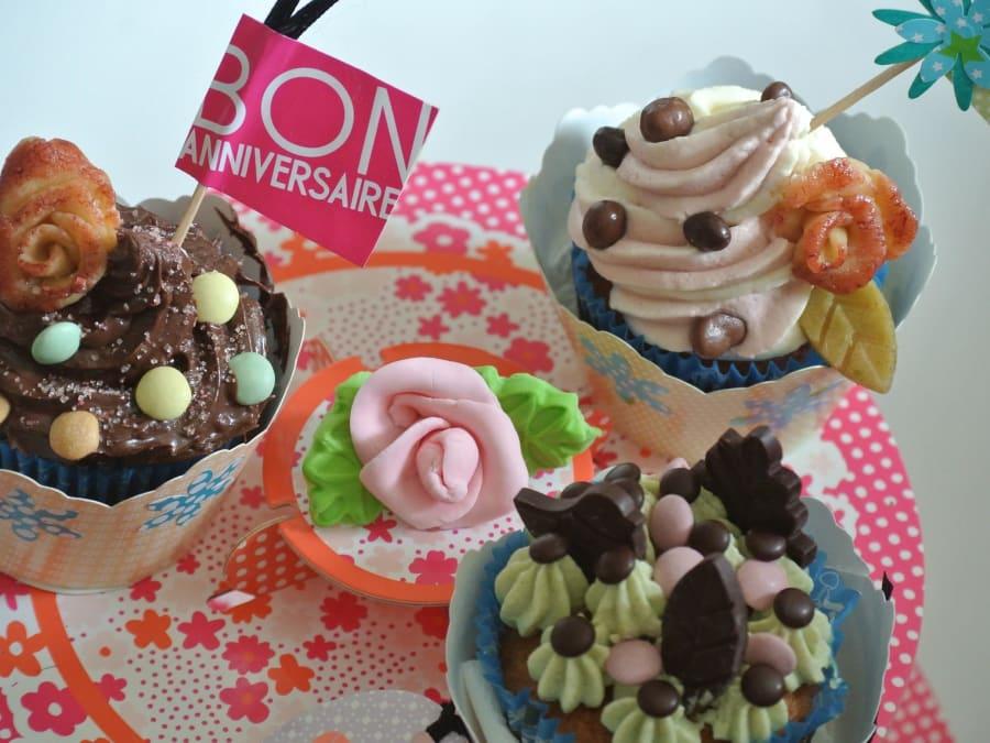 Anniversaire Création de Cupcakes bio à domicile