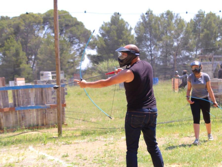 Team Building Archery Tag Mobile dans le Languedoc-Roussillon
