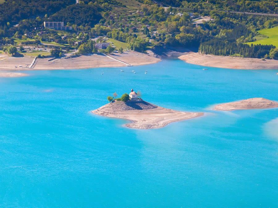 Survol du Lac de Serre-Ponçon en ULM Multiaxes à Gap (05)