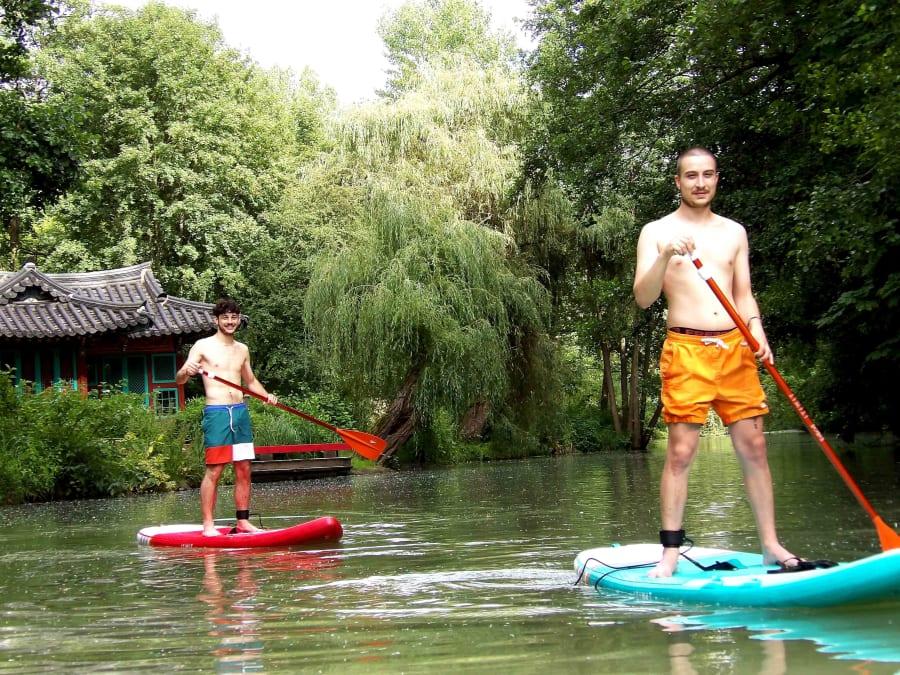 Stand Up Paddle près de Paris sur le Grand Morin (77)