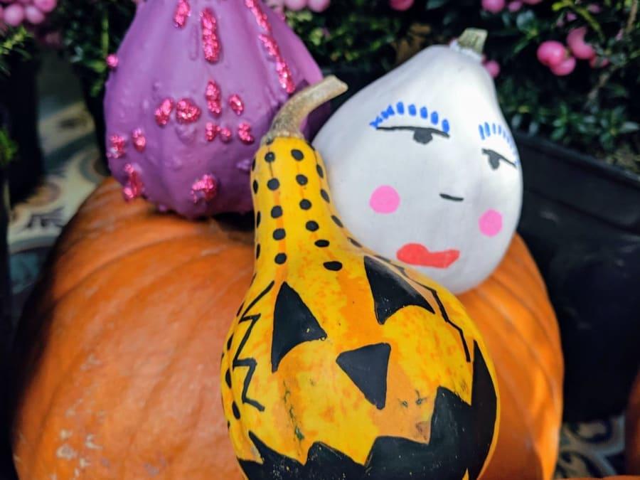 Atelier Halloween décoration coloquintes Truffaut Ville-du-Bois