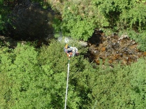 Saut à l'élastique au Pont de Bézergue : Elastic Jump