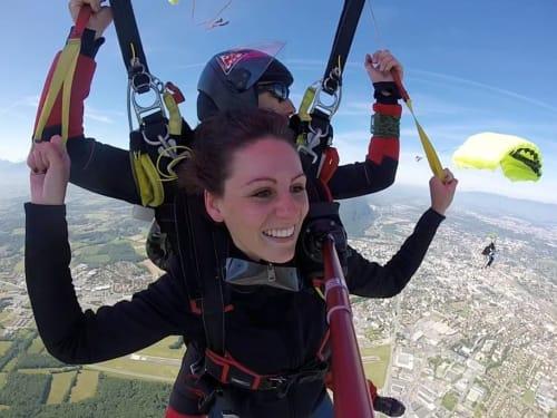 Saut en parachute à Megève : Parachutisme 74