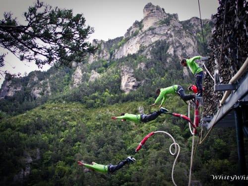 Le 107 : 107 m de chute libre dans les gorges du Tarn