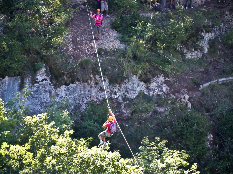 Roc et Canyon - Le vallon des Tyroliennes - Millau