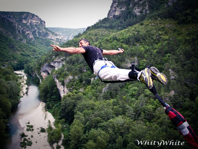 Le 107 : 107 m de chute libre dans les gorges du Tarn - La Malène