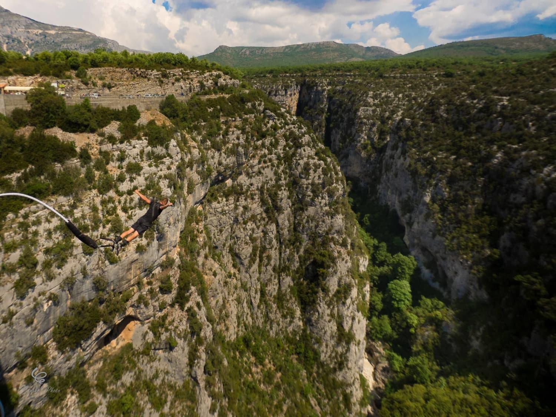 Saut à l'élastique au pont de l'Artuby : Gorges du Verdon - Comps sur Artuby