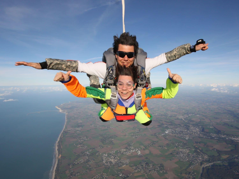 saut en parachute dieppe