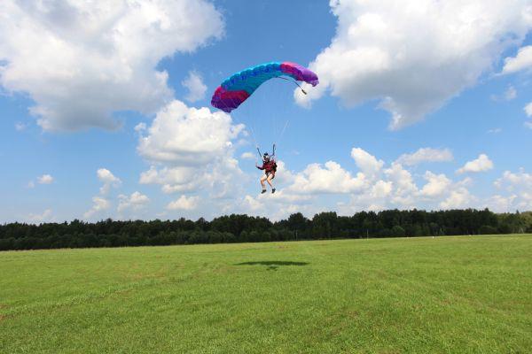 saut en parachute atterissage