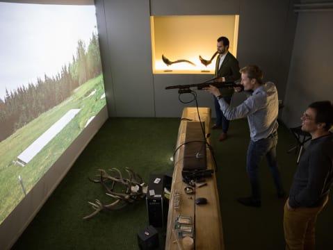 Simulateur de chasse et ball-trap
