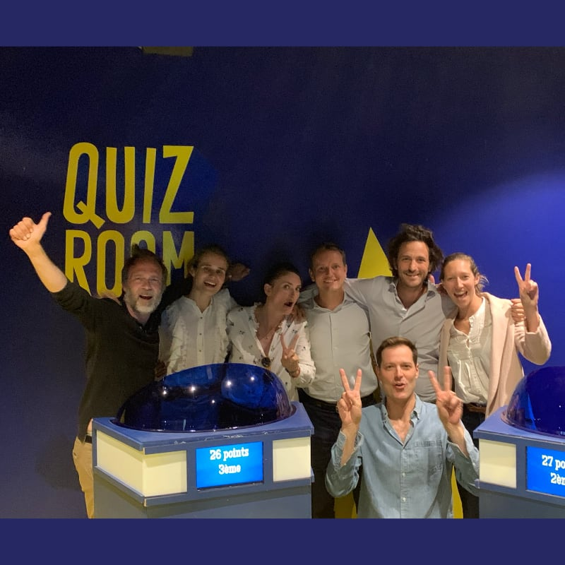 team building insolite quiz room
