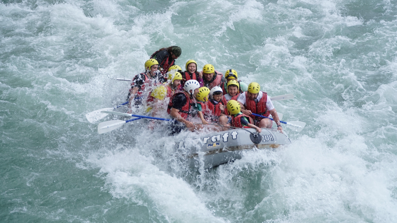 rafting activité montagne