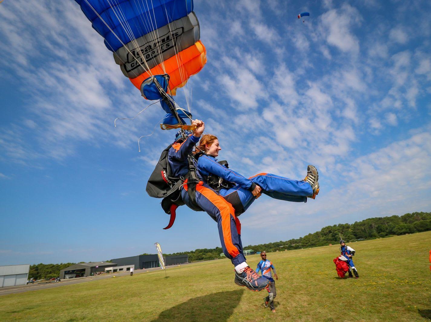 Fonctionnement d'un parachute