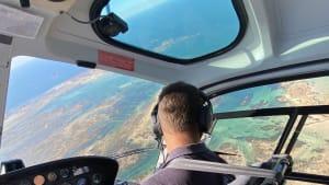 vertige pour un vol en hélicoptère