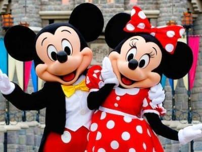 Mascottes Mickey et Minnie